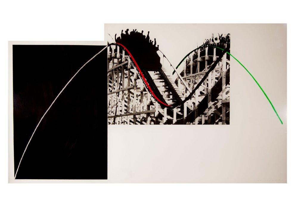 John Baldessari    Rollercoaster,  1989  Fotograbado con aguatinta a color impreso en papel Somerset Satin 410G  99 x 171,5 cm