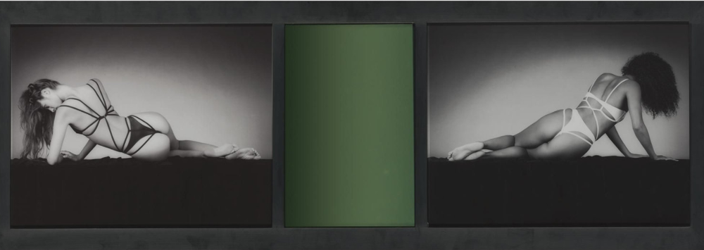 Robert Mapplethorpe    Mirror Image,   1987  Two gelatin silver prints with colored mirror  47,2 x 134,7 cm