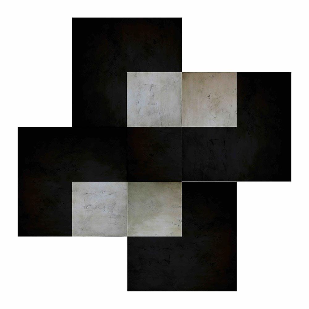 Out of Brackets  , 2015 - 2016  Acrilico sobre lienzo/ poliptico  100 x 100 cm