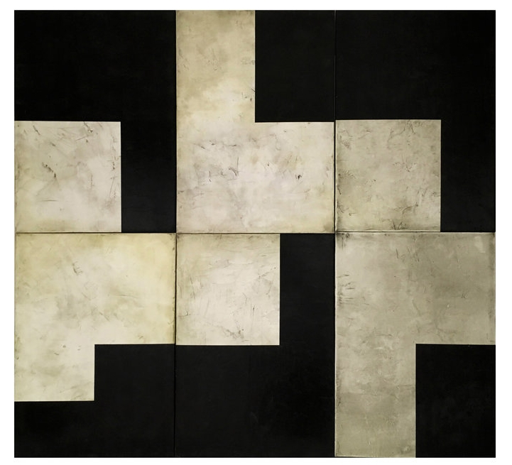 KamoSutra  , 2014  Acrylic on canvas/polyptych  200 x 210 cm