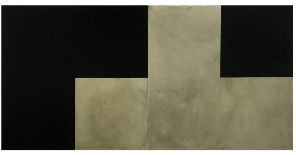 Side by Side  , 2015-2016  Acrylic on canvas/polyptych  200 x 100 x 100 cm