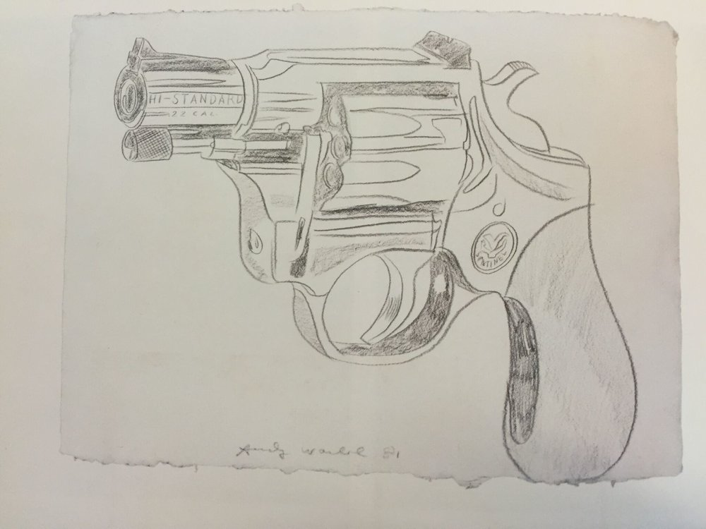 Gun,   1981  Pencil on paper  60 x 80 cm   NOT FOR SALE