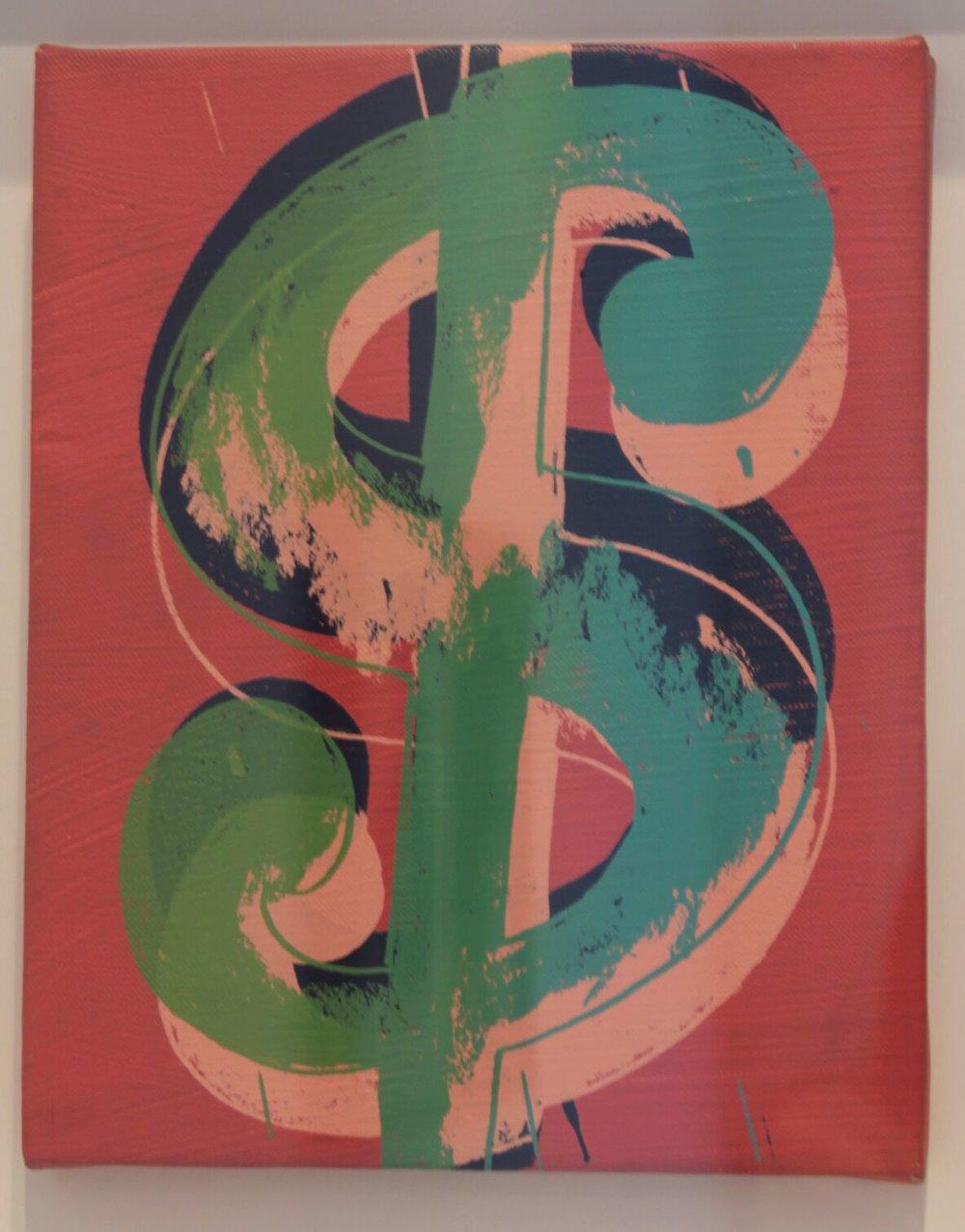 Dollar Sign,   1982  Técnica mixta sobre lienzo  25 x 20 cm   NOT FOR SALE