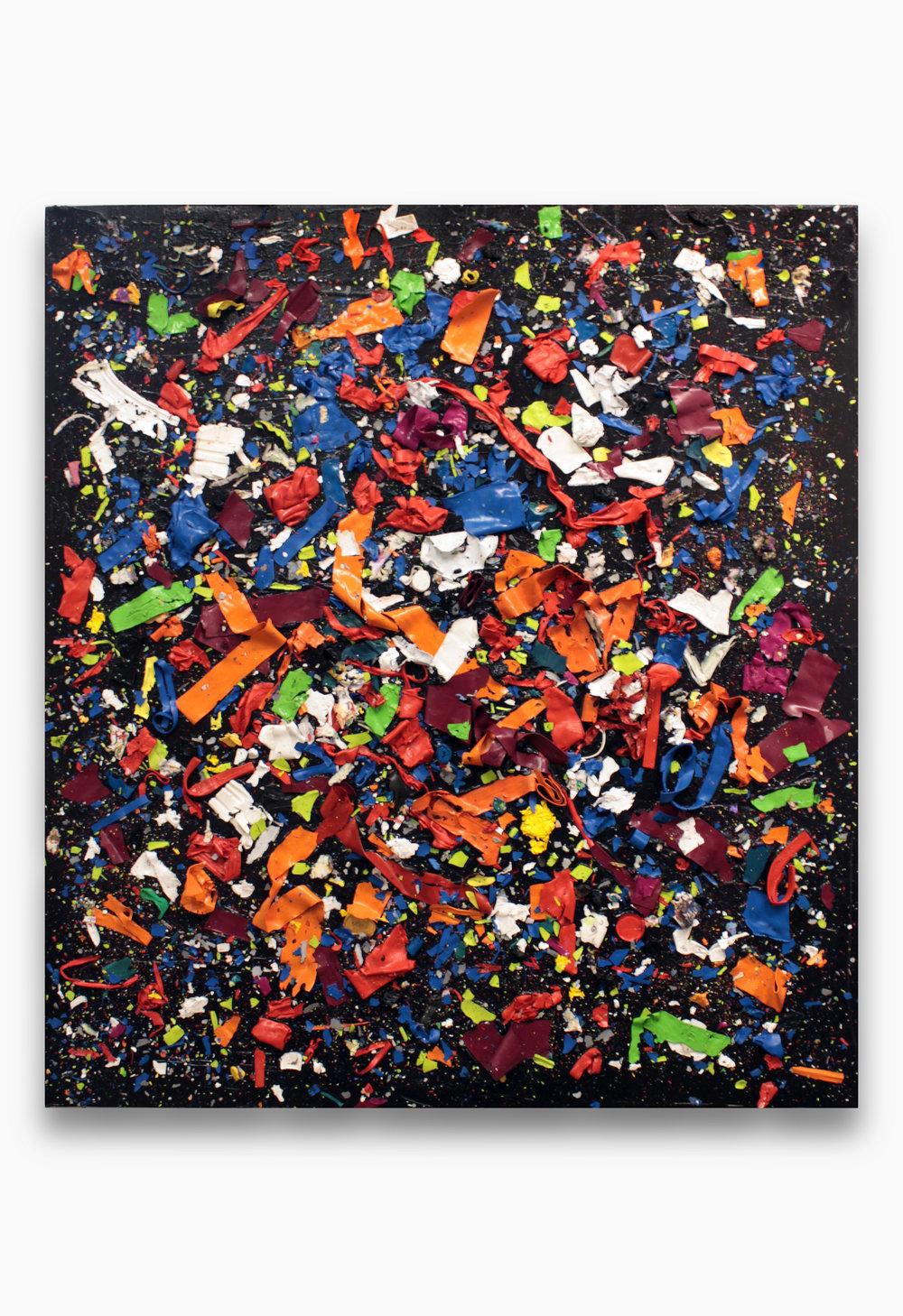 Cluster I  , 2015  Acrilico sobre madera  122 x 132 x 9 cm