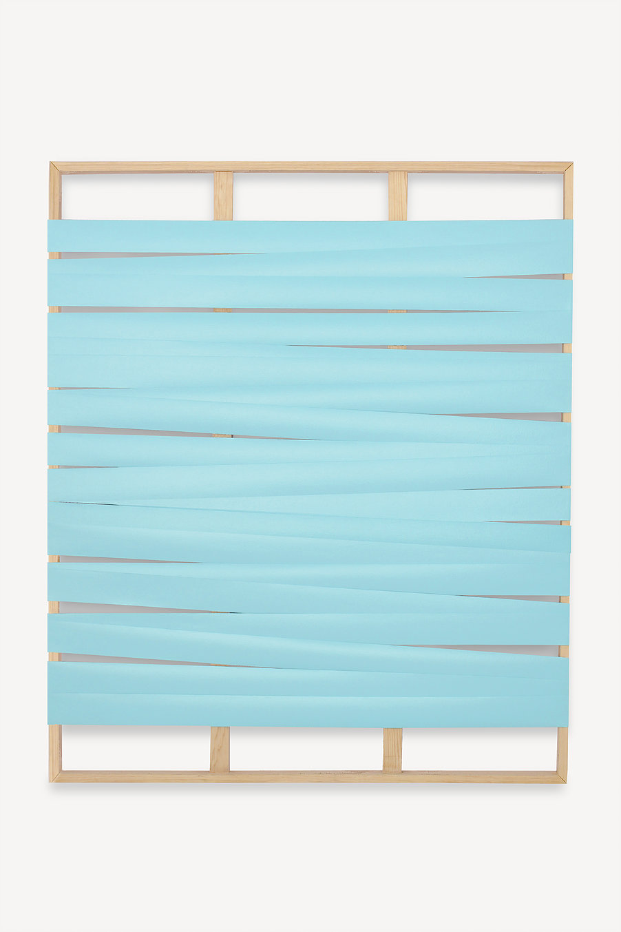 Líneas y espacios. N°5  , 2017  Acrylic on canvas and wooden stretcher  152 x 126 cm