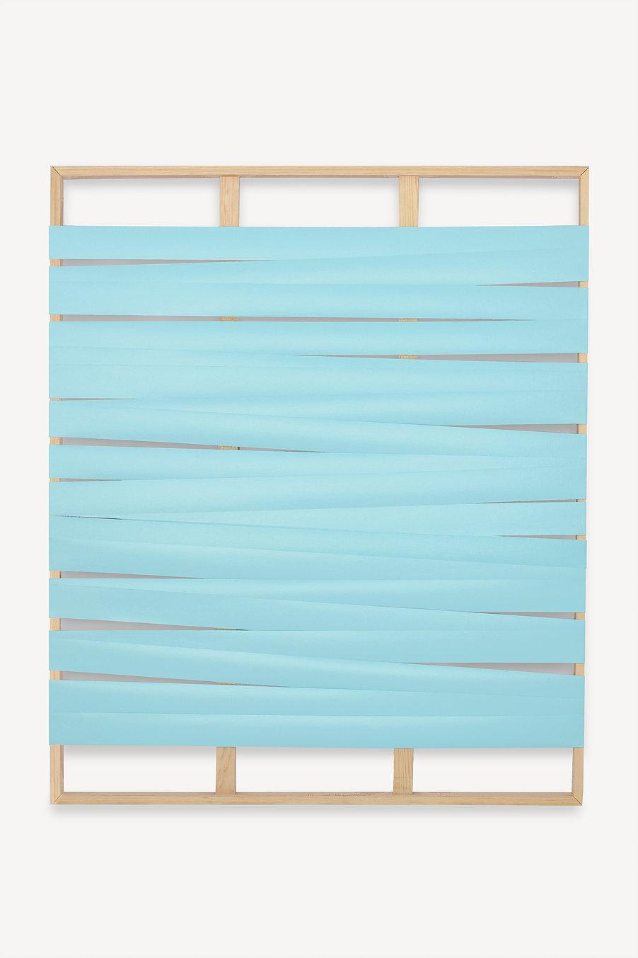 Líneas y espacios. N°5  , 2017  Acrilico sobre lienzo y bastidor  152 x 126 cm
