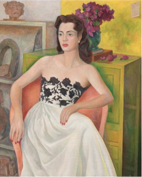 Portrait of Dolores Llobet Casanelles,   1948  Oleo sobre lienzo  124 x 100 cm   SOLD