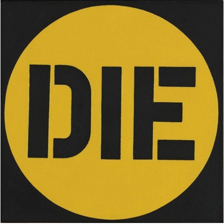 Die,   1962  Oil on canvas  30,5 x 30,5 cm   SOLD