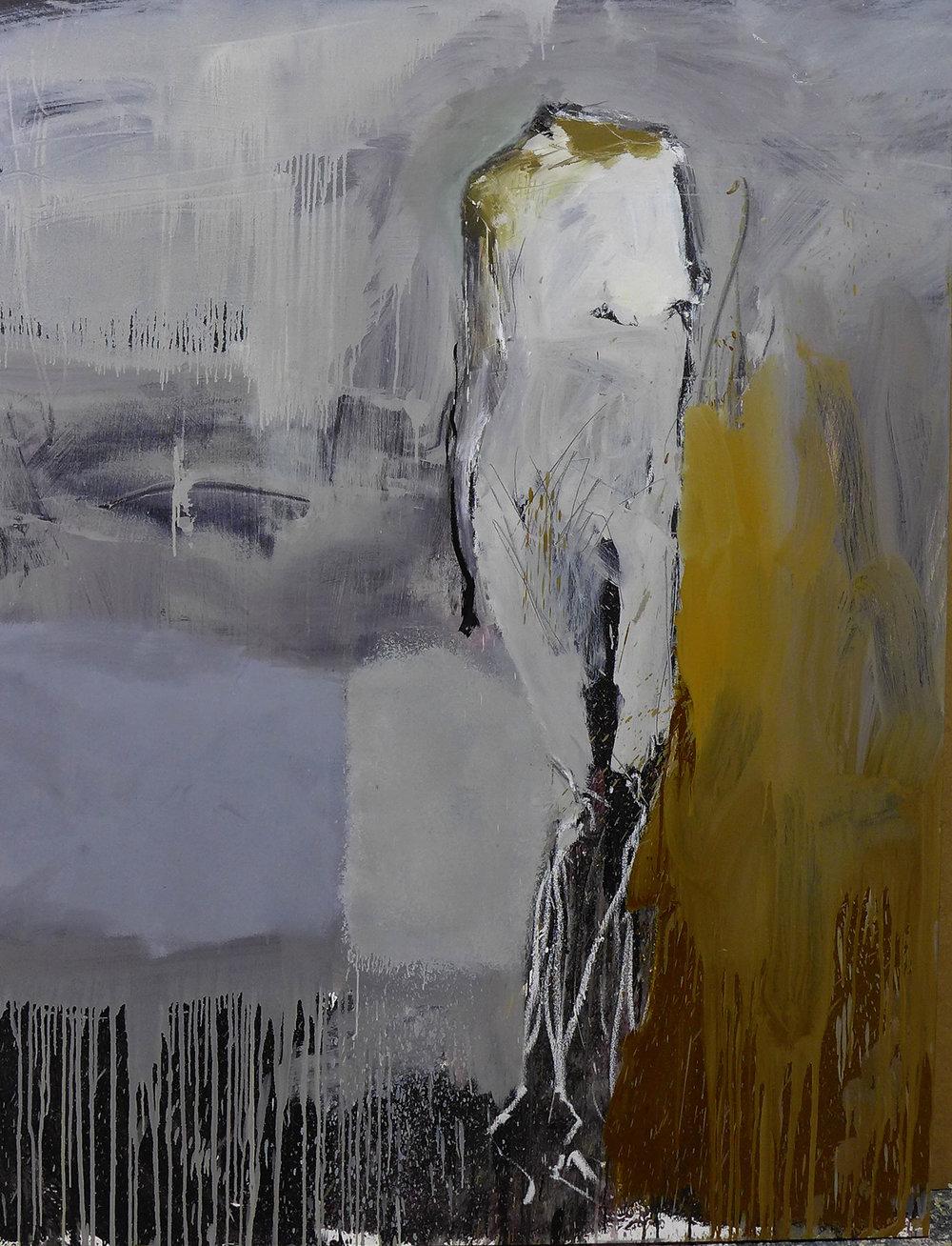 Mujer sin nombre  , 2017 Óleo sobre lienzo 130 x 100 cm