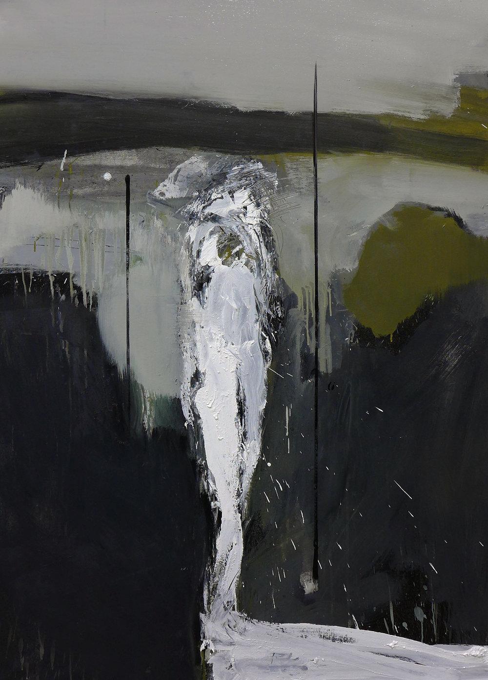 Hombre sin titulo,  2016  Óleo sobre lienzo  140 x 100 cm