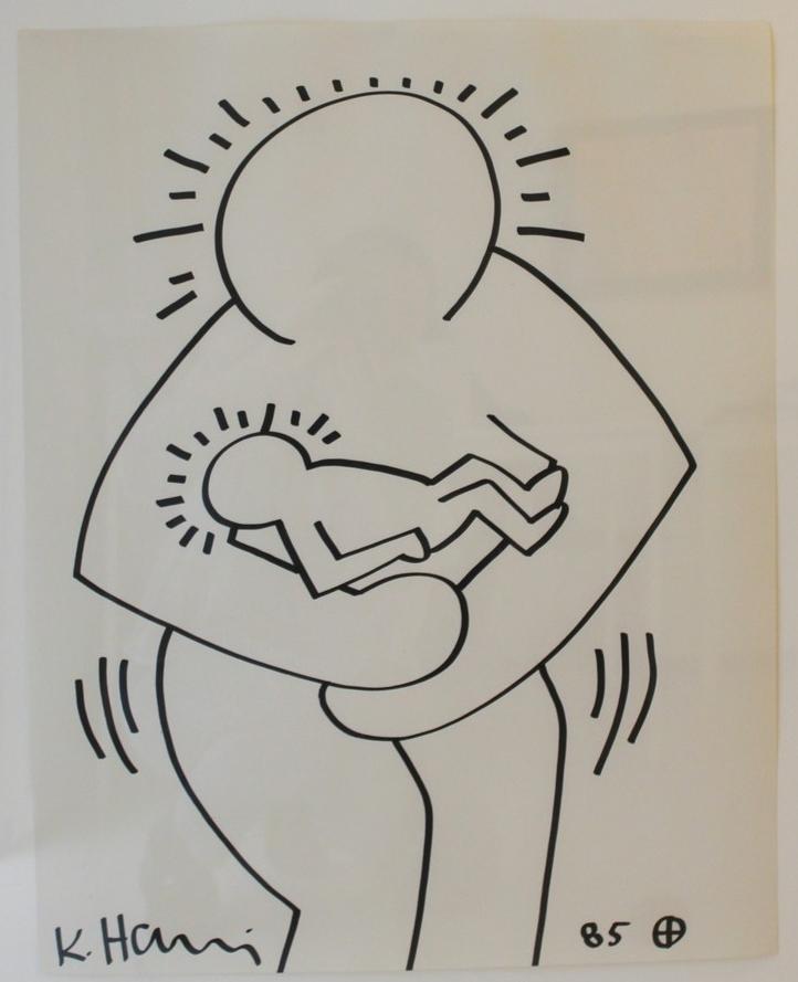 Untitled  , 1985  Black marker on paper  100 × 58.5 cm   SOLD