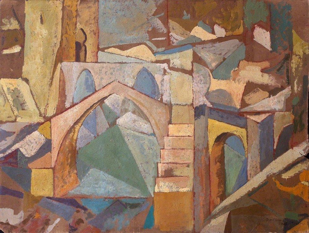 Puente de Toledo  ,1913  Oil on cardboard  48 × 63.2 cm