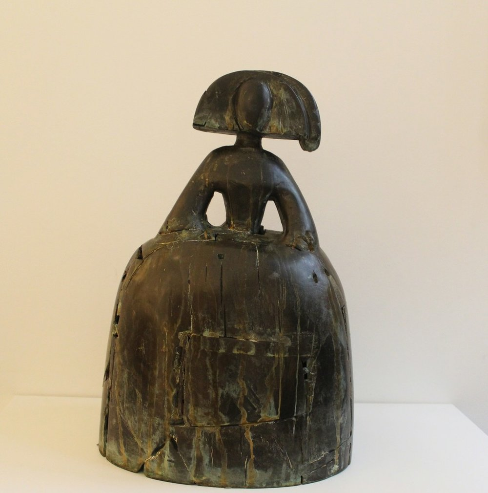 Reina Mariana  , 1995  Bronze and embedded wood  Edition of 6  Signed and numbered  50 × 12 × 8.5 cm