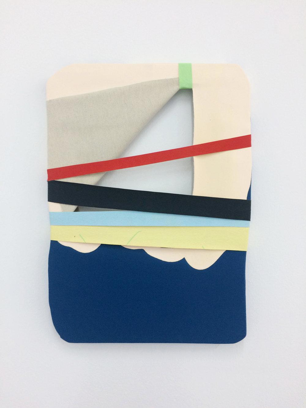 Aire entre luces  , 2017  Acrílico, lienzo y madera  52 x 59.5 cm
