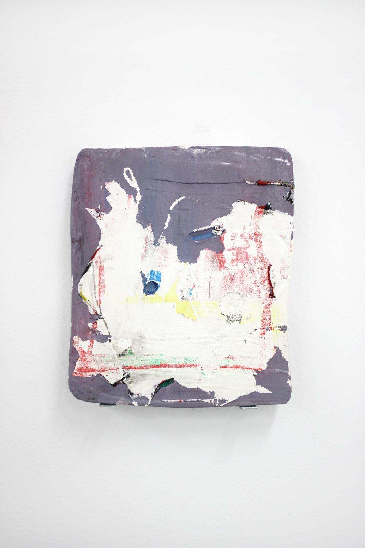 Sostenerse entre dos pasos  , 2017  Acrylic and plaster  26 x 30 cm