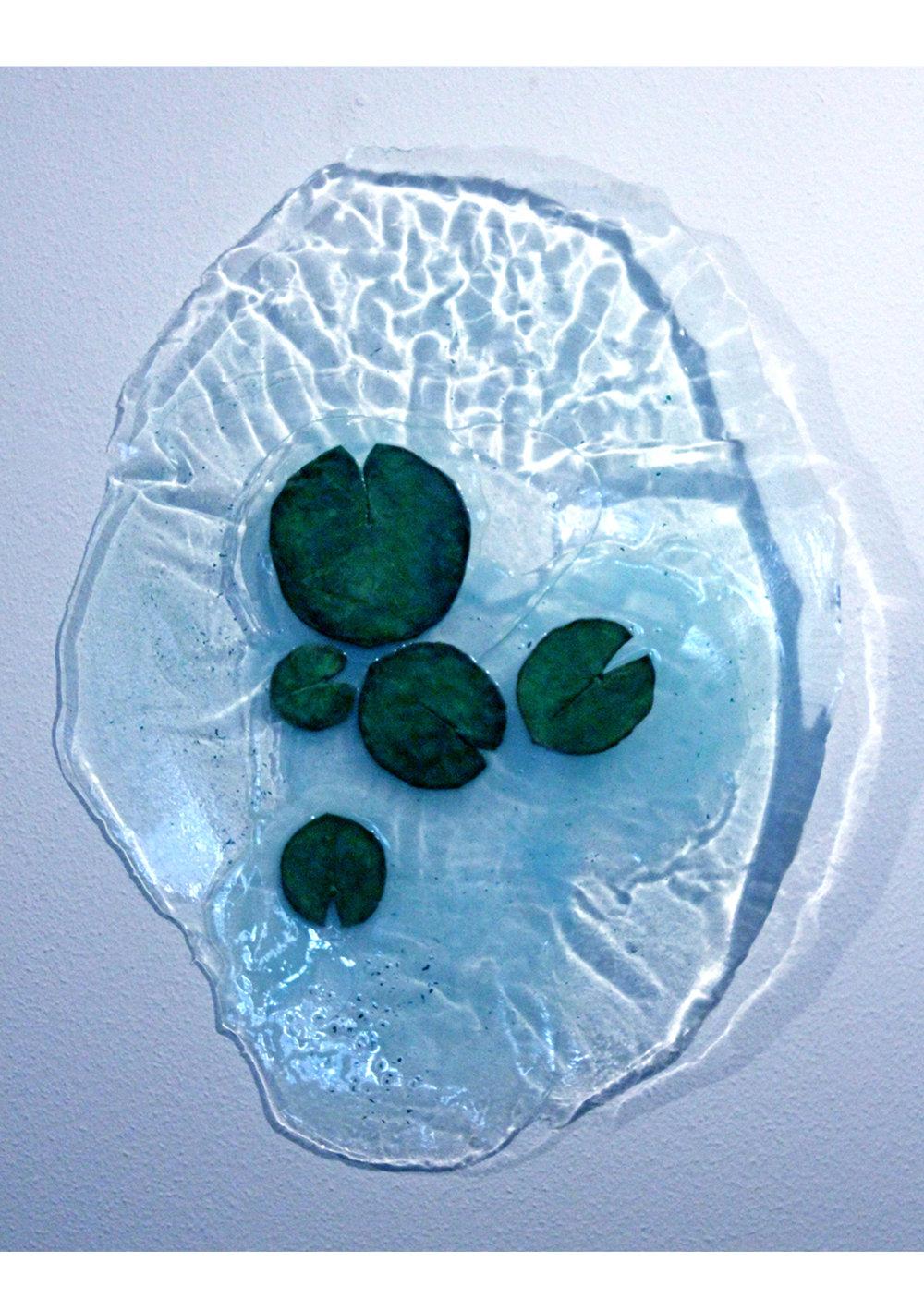 El Espejo de Pina ,  2014  Barniz, resina, acrilico, oleo y ceramica  80 x 55