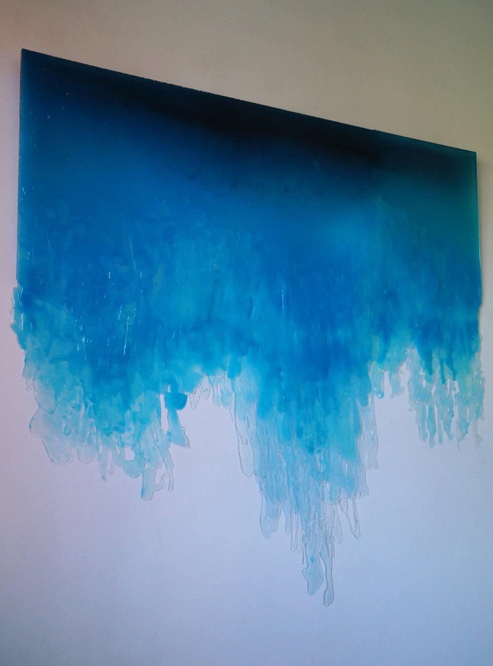 SOLUBLE I ,  2017  Metacrilato líquido, resina epoxi, acrílico  125 x 105 cm