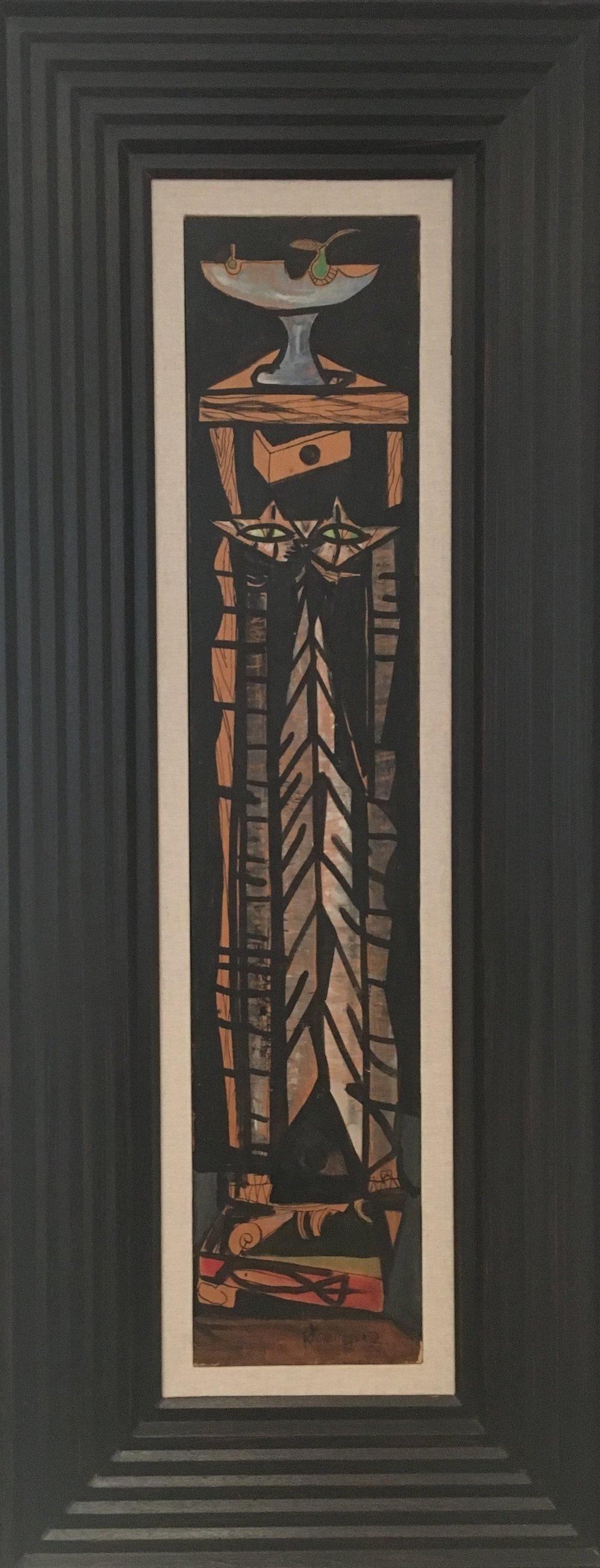 Le Chat ,  1953  Oleo sobre tabla  105 x 20 cm