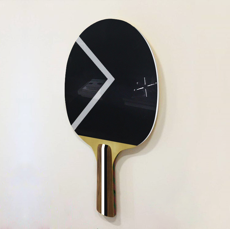Ashe-Racket  , 2017  Electrostatic painting on metal/wood  163 x 131 cm