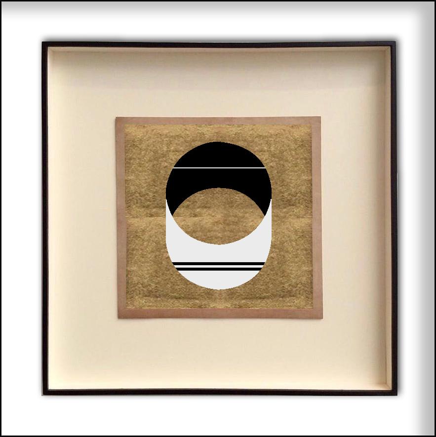 Sin título  , 2017  Oro y acrílico sobre papel de algodón  30 x 30 cm