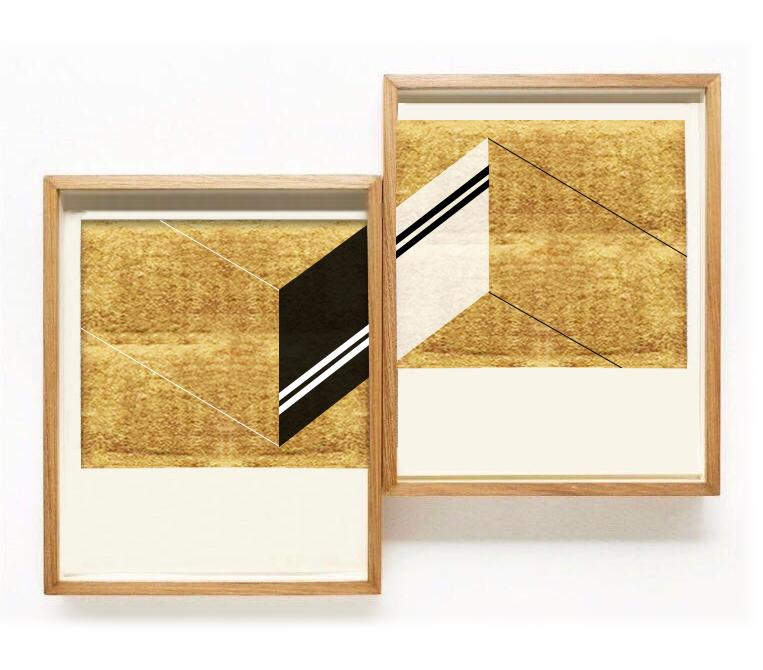 Sin título  , 2017  Oro y acrílico sobre papel de algodón  24 x 24 cm (cada obra)
