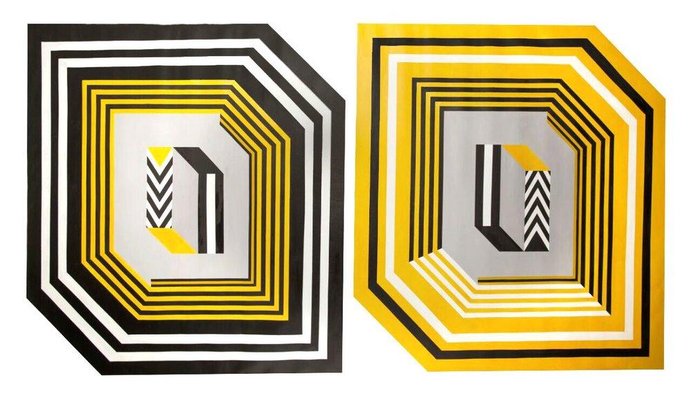 Sin título  , 2016  150 x 150 cm each