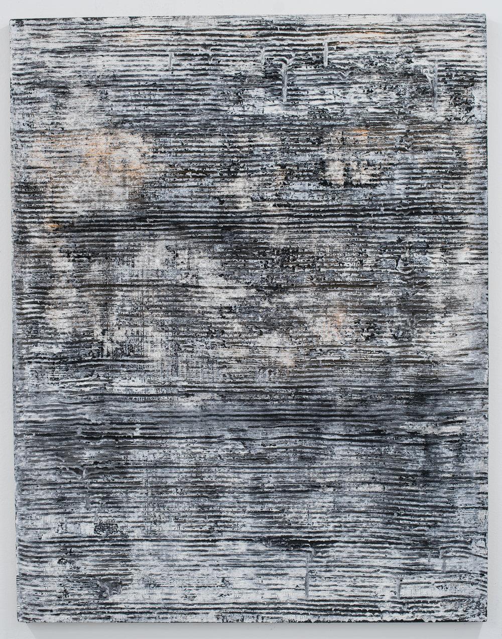 Sin título , 2018  Técnica mixta sobre lino  146 x 114 cm
