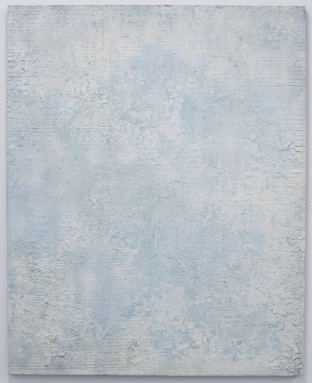 Untitled  , 2018 Mixed media on linen. 150 x 120 cm.