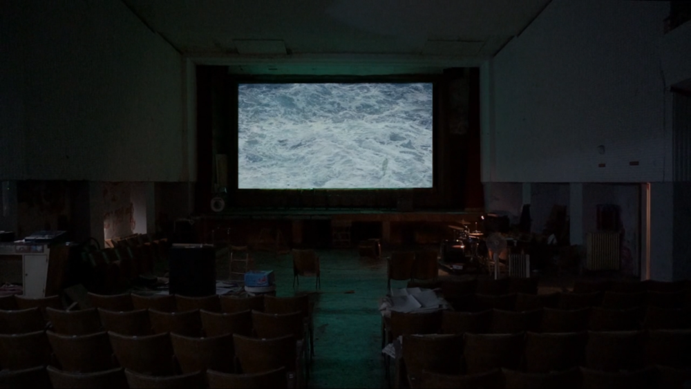 Maria Trabulo     In Lybia the Sea is Black And in Italy It Is Blue , 2015  Video, HD, color, Mute.  1' 37''