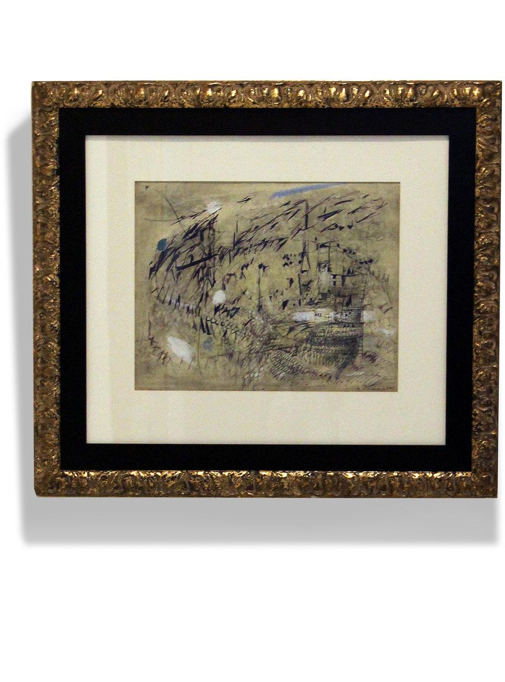 Maria Helena Vieira da Silva    Le Vent , 1950  Gouache y bolígrafo sobre papel  54,4 x 43,2 cm