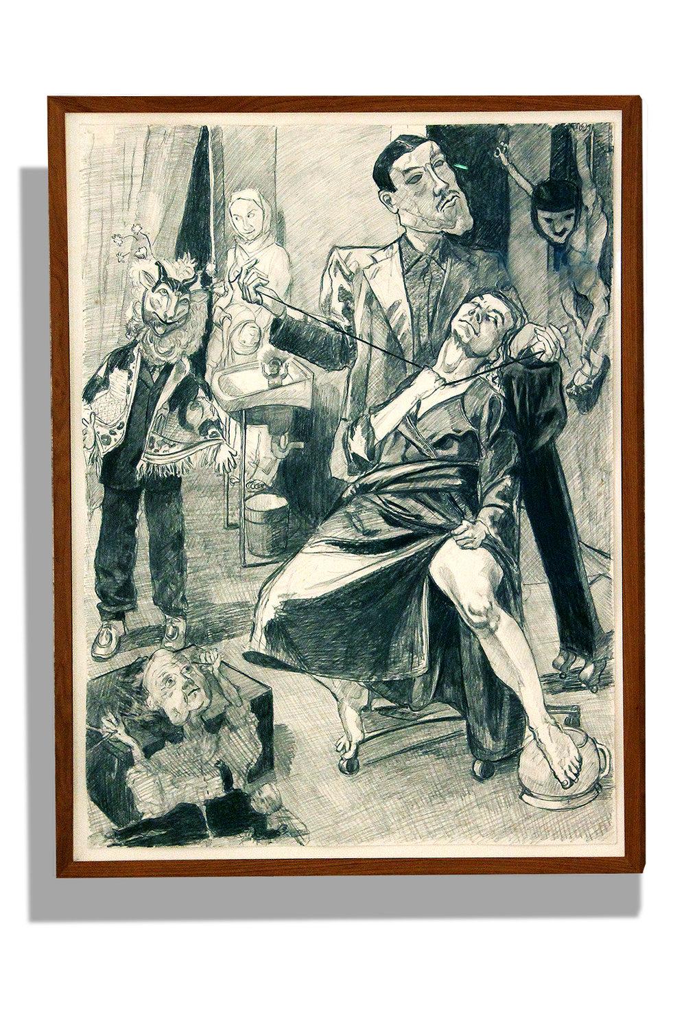 Paula Rego    Honour , 2008  Lápiz sobre papel  137 x 102 cm
