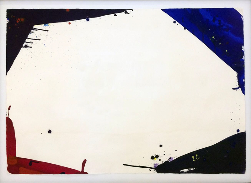 Sam Francis   Untitled,  1966  enamel on cardboard  75 x 107 cm