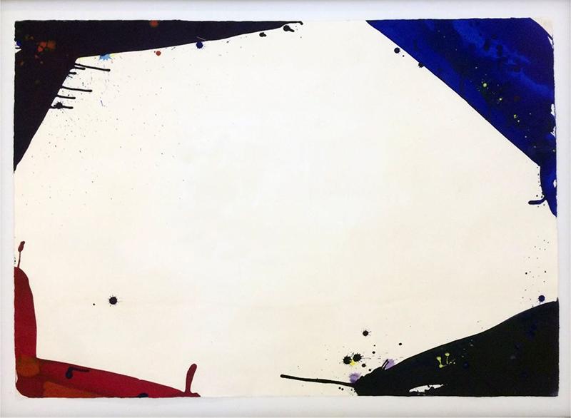 Sam Francis   Untitled, 1966  Esmalte sobre cartulina  75 x 107 cm