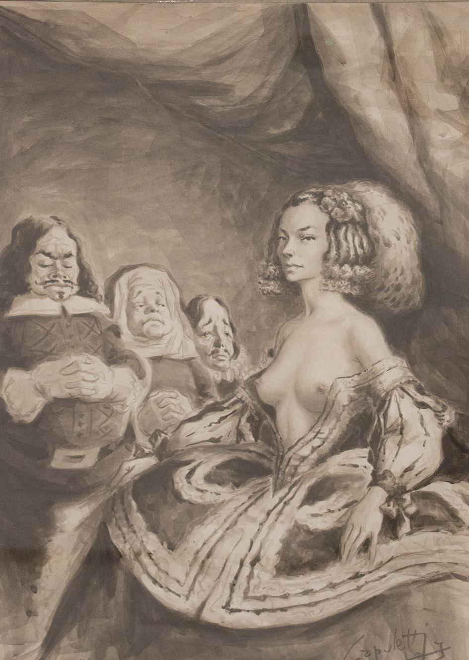 Jose Manuel Capuletti  Untitled  Watercolor on paper  65,5 x 47,5 cm