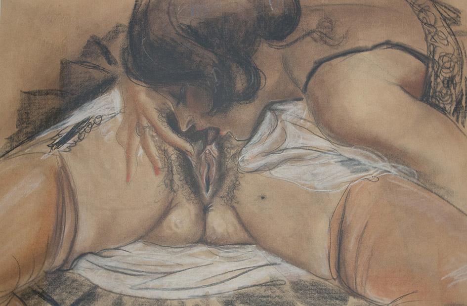 Henri Touluse Lautrec  Untitled  Watercolor on paper  40 x 60,5 cm