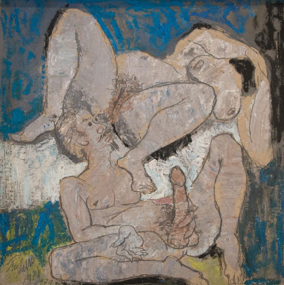 Antonio Guijarro  Untitled  1978 - 1979  Óleo sobre cartón  26 x 26 cm