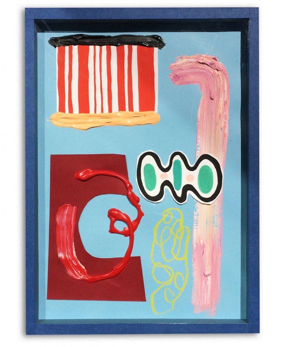 Vacaciones permanentes  Acrylic and collage on paper  30 x 42 cm