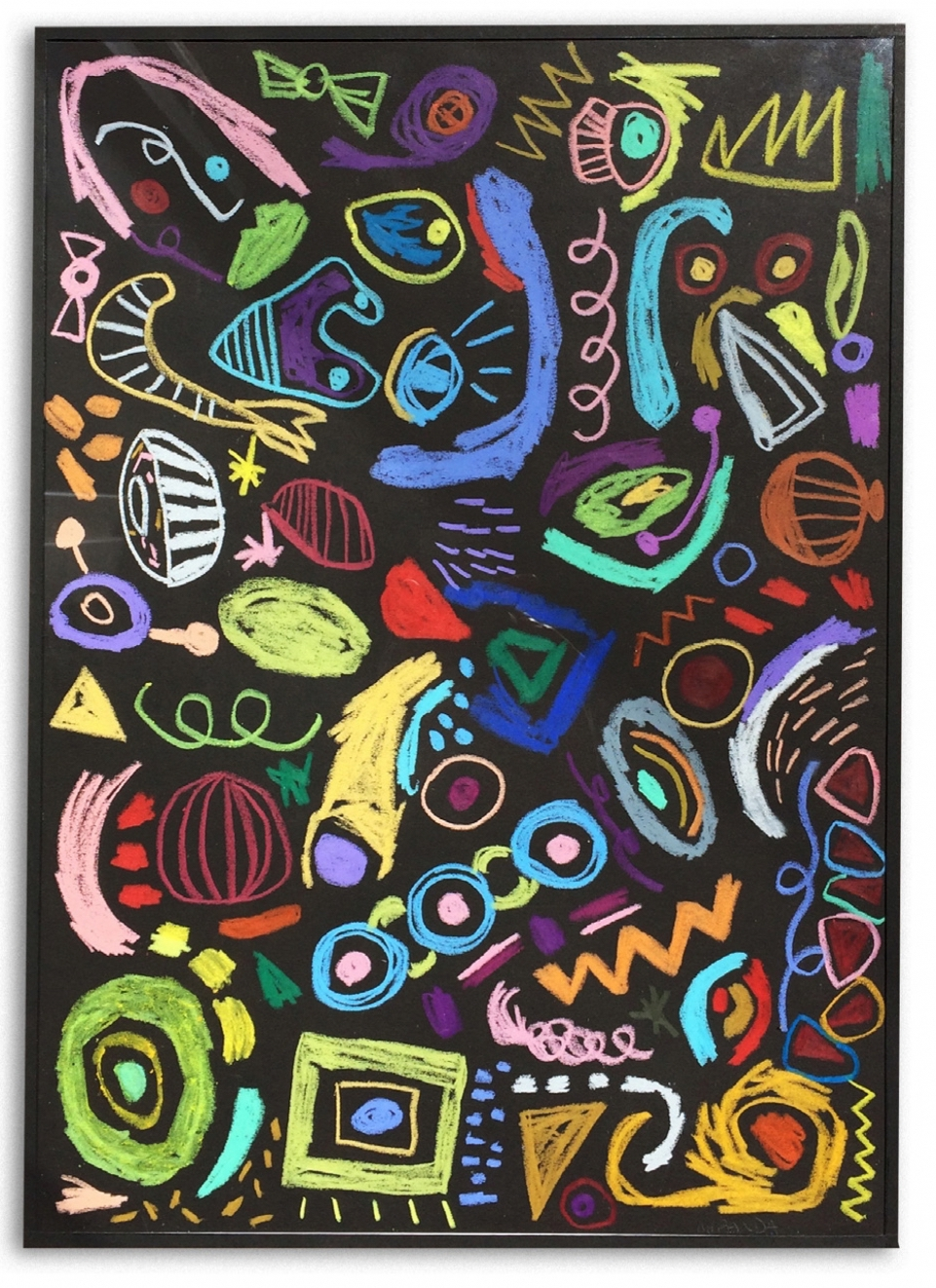 Confusión de la buena  Crayones de cera sobre papell  43 x 30 cm