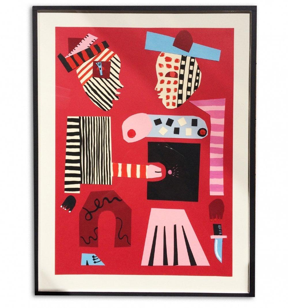 Aristocratic Fornicaçao  Acrílico y collage sobre papel 26 x 35 cm