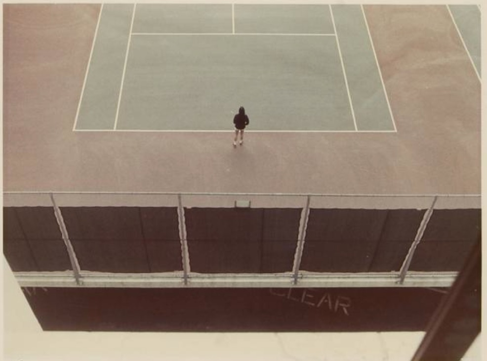 Tennis court, 1973 Colour print, monogrammed and numbered in ink 52/80 20,3 x 26,7 cm