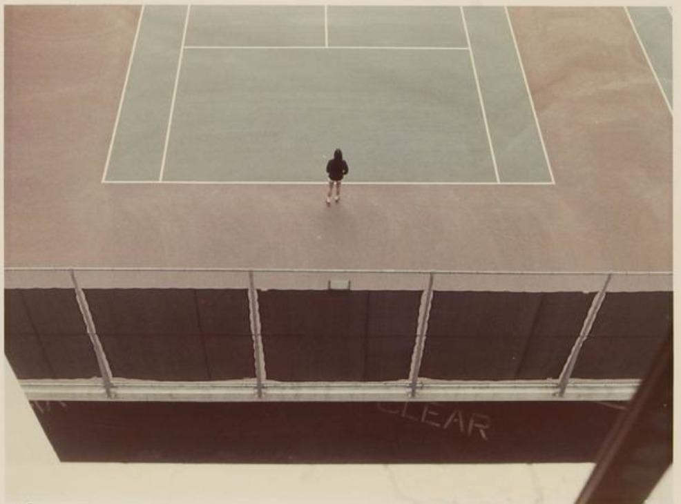 Tennis court, 1973 Print coloreado con monograma y numerada en tinta 52/80 20.30 x 26.70 cm