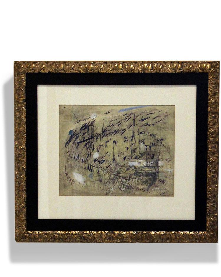 Maria Helena Vieira da Silva    Le Vent , 1950  Gouache and pen on paper  43,2 x 54,4 cm