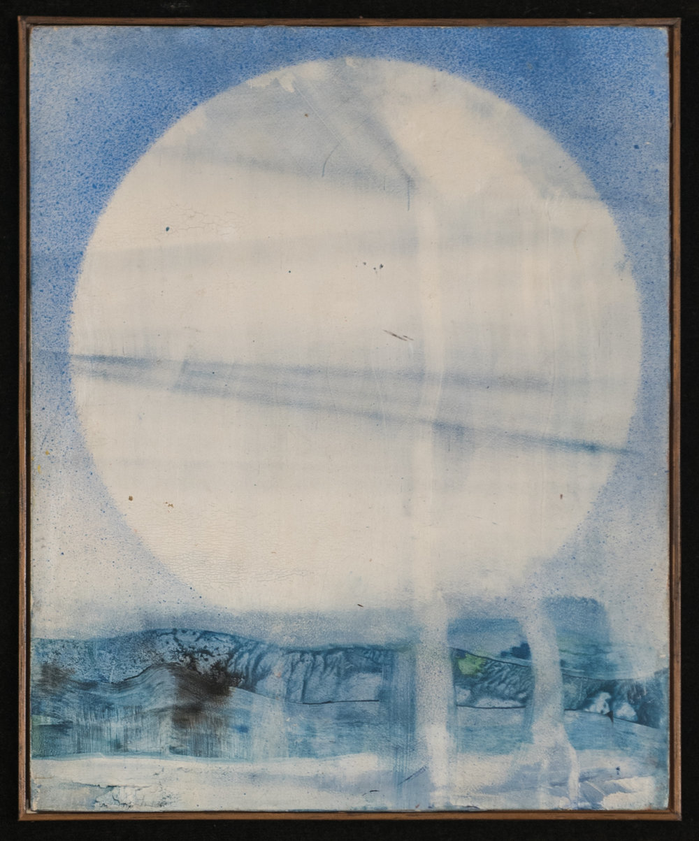 Sole, 1963 Oil on wood 28 x 22 cm