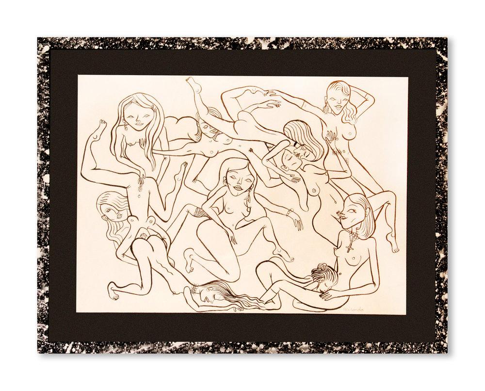 Escándalo   Tinta negra sobre papel 55,7 x 42,8 cm  VENDIDA