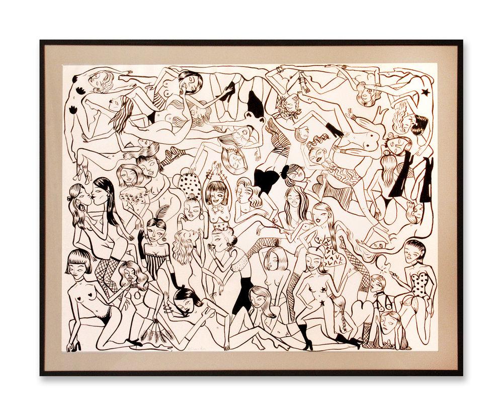Mejunge du pasión   Tinta negra sobre papel 73 x 58 cm