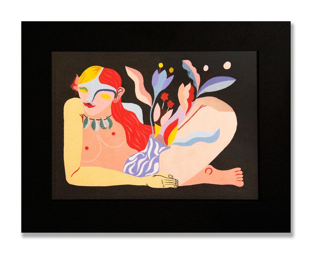 Coco Cherrie   Acrílico en papel 57,9 x 45,5 cm