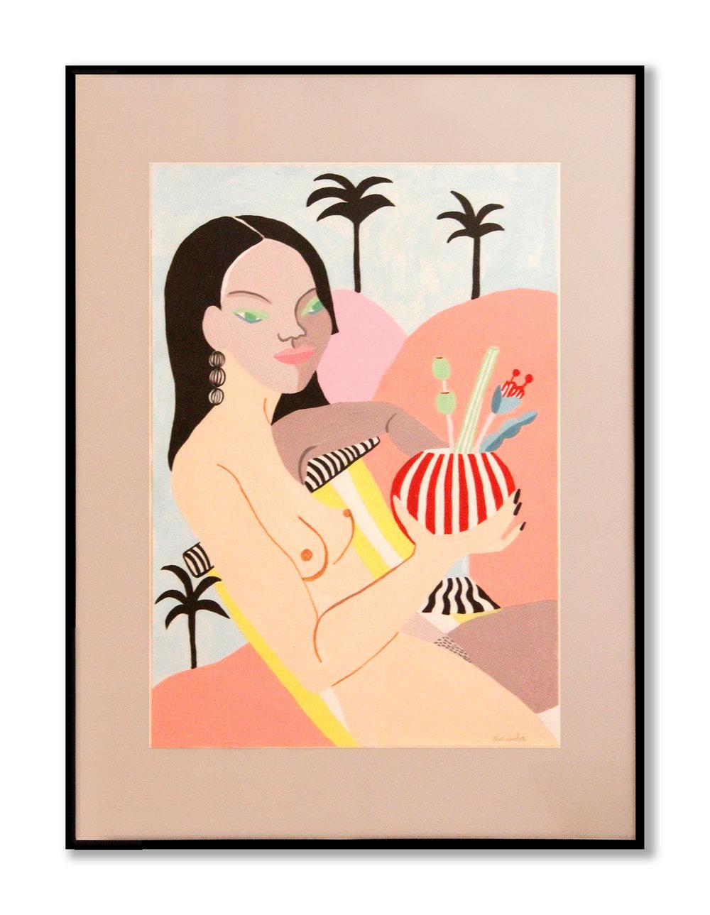 Life is great   Acrílico en papel 55,9 x 41,8 cm