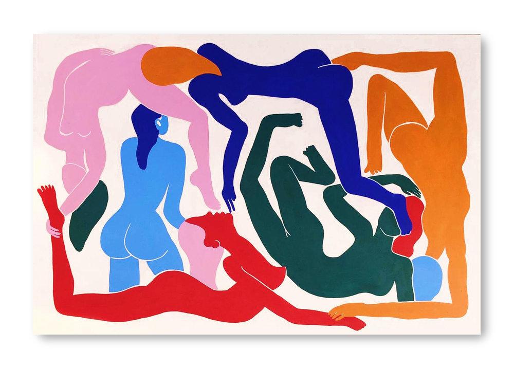 Leloland   Acrylic on canvas 195 x 130 cm