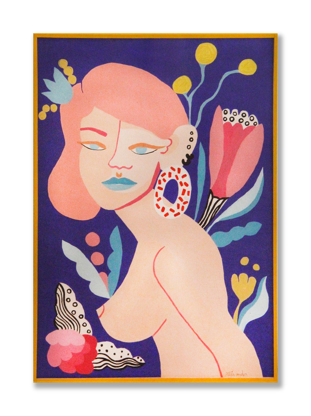 Dar Jaguar   Acrylic on paper 42,5 x 30 cm