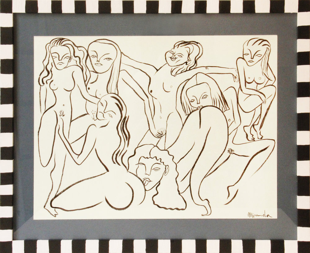 Circus d'amour   Tinta negra sobre papel 51,2 x 40,6 cm